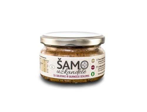 Šamo užkandėlė su salierais ir burnočio sėklomis (190g)