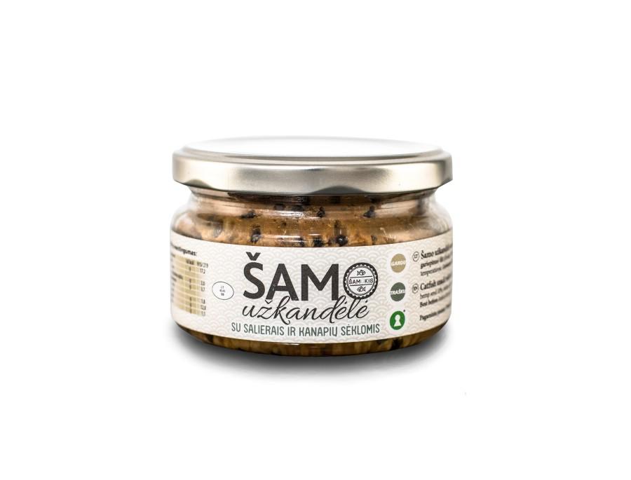 Šamo užkandėlė su salierais ir kanapių sėklomis (190g)